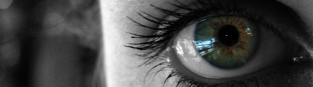 closeup abstract famale green eye